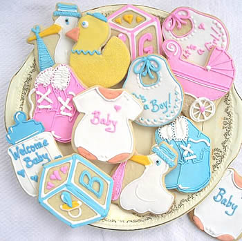 RECETA PARA BABY SHOWER: GALLETITAS ALUSIVAS